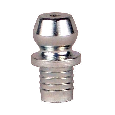 "3006 Alemite Drive Fitting - Straight - Overall Length, 31/64"" - Shank Length, 7/32"" - Drill Diameter, 3/16"" - No Ball Check"