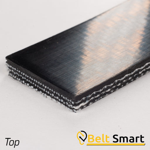 BS030 - #30 Beltservice 3 Ply Poly 135 Black Nitrile COS Conveyor Belt