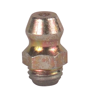 "369582 Alemite 1/4""-28 and 1/8"" Thread Forming Straight Fittings - Hex Size, 9/32"" - Hole Size recommended, .230 - .235"