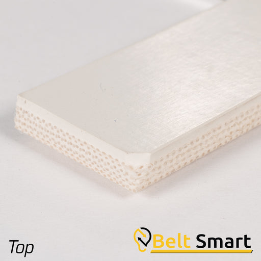 BS003 - #3 Beltservice 4 Ply 15 oz. White Nitrile COS Conveyor Belt