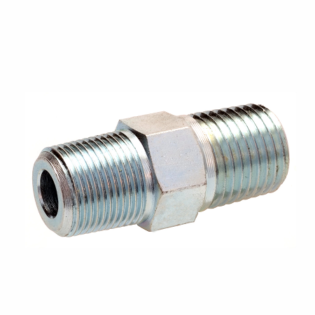"43379 Alemite Straight Adapter - Thread: 1/4"" NPTF(m) - Thread (M / F): 1/2""-27 Taper(m)"