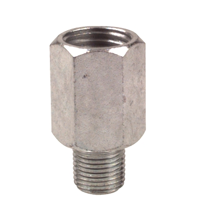 "43760 Alemite Straight Adapter - Thread: 1/8"" NPTF(m) - Thread (M / F): 1/4"" NPTF(f)"
