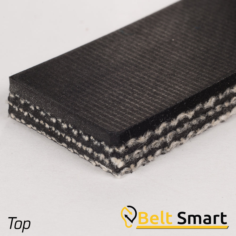 "BS048 - #48 Beltservice 3 Ply CP 30 Black 1/16"" x FS Conveyor Belt"