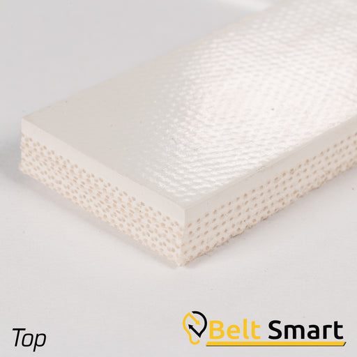 BS004 - #4 Beltservice 5 Ply 15 oz. White Nitrile COS Conveyor Belt