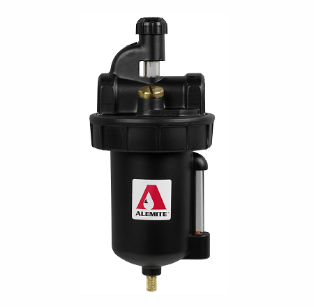 "5916-2 Alemite Lubricator - Max Inlet Pressure: 250 PSI - Inlet/Outlet: 1"" NPTF(f) - Bowl Capacity: 16 oz."