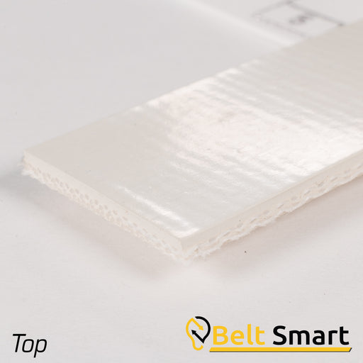 BS005 - #5 Beltservice 2 Ply Poly 60 White Nitrile COS Conveyor Belt