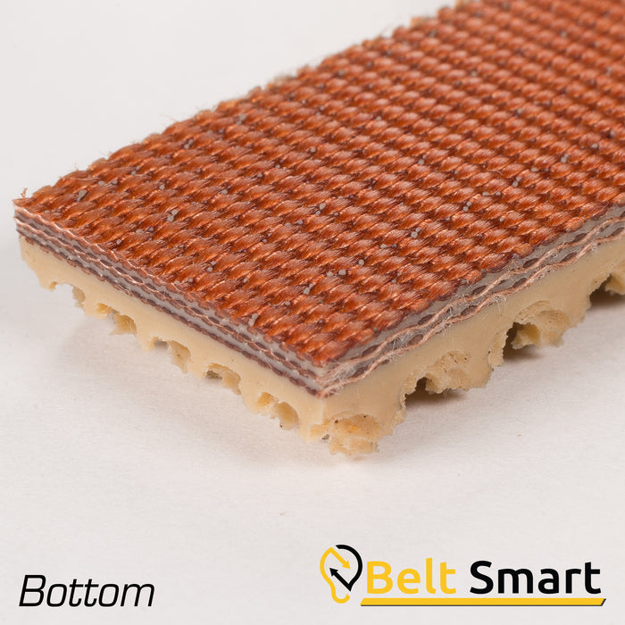 BS060A - #60a Beltservice 3 Ply 225 Tan Pure Gum Roughtop x Bare Conveyor Belt