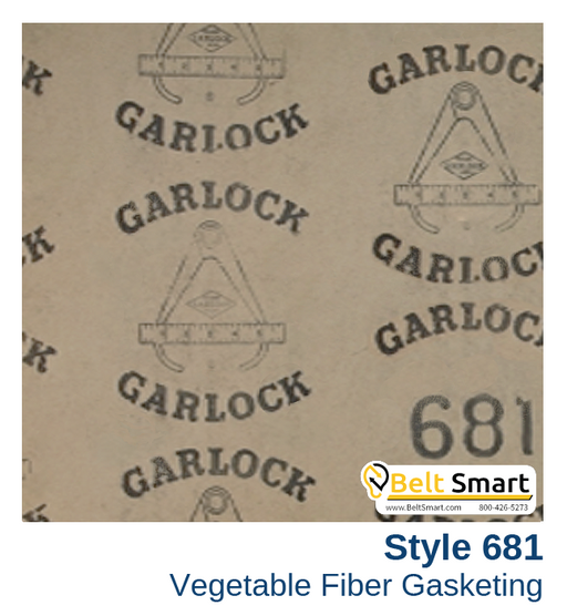 Garlock Vegetable Fiber Gasketing Style 681 - 0.125 in. thick / 36in. x 25in.