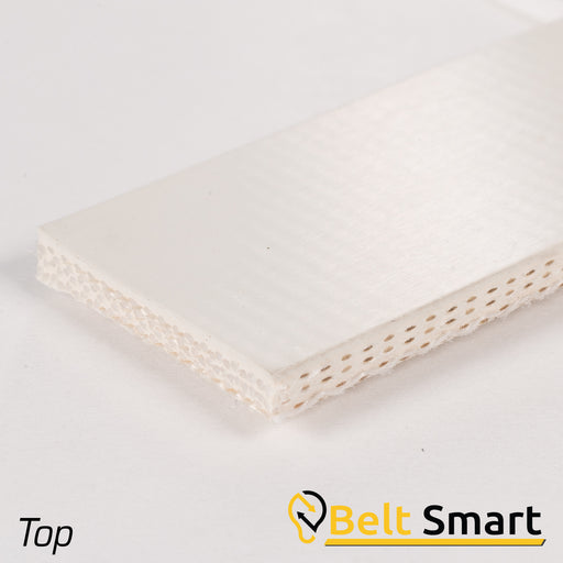 BS006 - #6 Beltservice 3 Ply Poly 90 White Nitrile COS Conveyor Belt