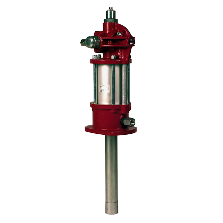 "7783-C4 Alemite Oil Pump - Pneumatic - Industrial - Drum Size: Stub - Material Inlet: 1-1/2"" NPTF(f) - Material Outlet: 1/2"" NPTF(f)"