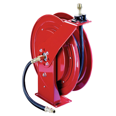 "8078-D Alemite Heavy Duty Reel - Oil - Connecting Hose Inlet, 1/2"" NPTF(m) - Delivery Hose Outlet, 1/2"" NPTF(m) - Delivery Hose specification, 1/2"" x 50' (317813-50) - Max Pressure, 1,500 PSI"