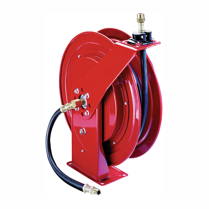 "8078-G Alemite Severe Duty Reel - Grease - Connecting Hose Inlet, 3/8"" NPTF(m) - Delivery Hose Outlet, 1/4"" NPTF(f) - Delivery Hose specification, 1/4"" x 50' (317874-50) - Max Pressure, 6,000 PSI"