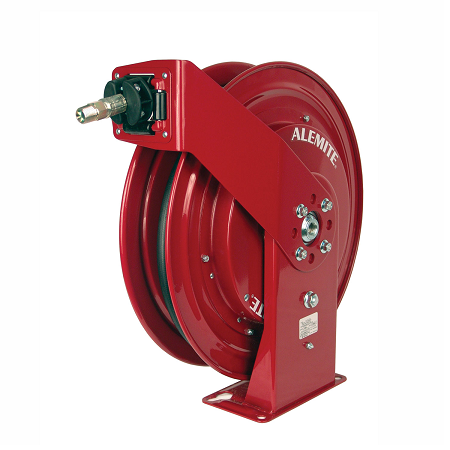 "8078-R Alemite Severe Duty Reels - Air/Water - Connecting Hose Inlet, 1/2"" NPTF(m) - Delivery Hose Outlet, 1/4"" NPTF(m) - Delivery Hose specification,3/8"" x 30' (317803-30) - Max Pressure, 300 PSI"