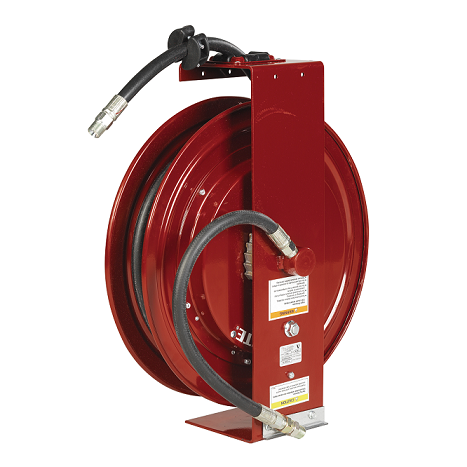 "8079-D Alemite Shielded Reels - Oil - Connecting Hose Inlet, 1/2""(m) - Delivery Hose Outlet, 1/2""(m) - Delivery Hose Specification, 1/2"" x 50' (317813-50) - Max Pressure, 1,500 PSI"