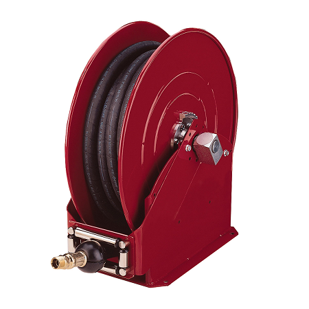 "8080-B Alemite High Capacity Reel - Grease - Reel Inlet, 1/2"" NPTF(f) - Delivery Hose Outlet, 1/2"" NPTF(m) - Delivery Hose specification, 1/2"" x 80' (317813-80) - Max Pressure, 1,500 PSI"
