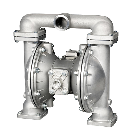 "8325 Alemite 1"" Diaphragm Pump - UL Listed - Air Operated - Aluminum/Buna Inlet/Outlet: 1"", Air Inlet: 1/2"""