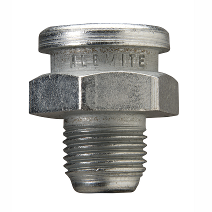 "A1184 Alemite Button Head Standard Fitting - Thread, 1/8"" PTF - Hex Size, 5/8"" - Overall Length, 3/4"" - Shank Length, 11/32"""