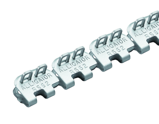 "RS62SJ20/500SS Flexco Alligator Ready Set Staple - 54496 - 20"" Belt Width (316 Stainless Steel with Stainless Spring Wire Pins)"