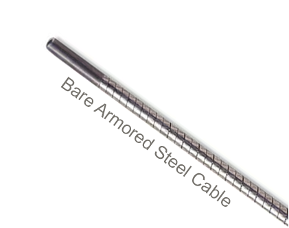 "AC6-24-1 Flexco Hinge Pin for SR Scalloped Edge R5-1/2 & R6 Rivet Hinged Fasteners - 38164 - Bare Armored Steel Cable (3/8"" dia.) - 24"" Belt Width"
