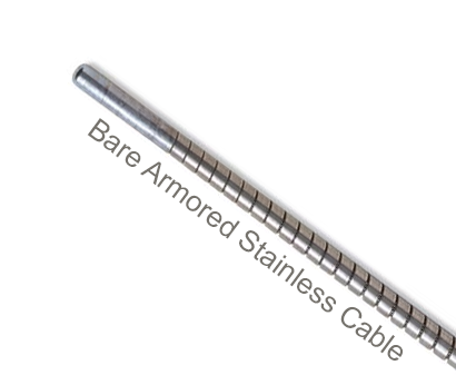 "ACS6-46-1 Flexco Hinge Pin for SR Scalloped Edge R5-1/2, R6, R8 Rivet Hinged Fasteners - 39281 - Bare Armored 300 Series Stainless Steel Cable (3/8"" dia.) - 46"" Belt Width"
