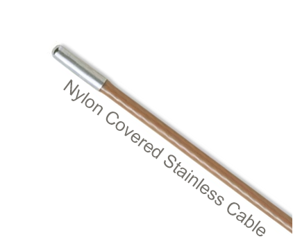 NCS1-C Flexco Alligator Ready Set Staple Hinge Pin (for RS125 Series) - Nylon Covered Stainless Steel Cable - 50666 - 100 Ft. Coil