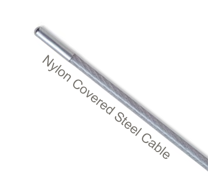 NC187-C Flexco Alligator Ready Set Staple Hinge Pin (for RS187 Series) - Nylon Covered Steel Cable - 50670 - 100 Ft. Coil