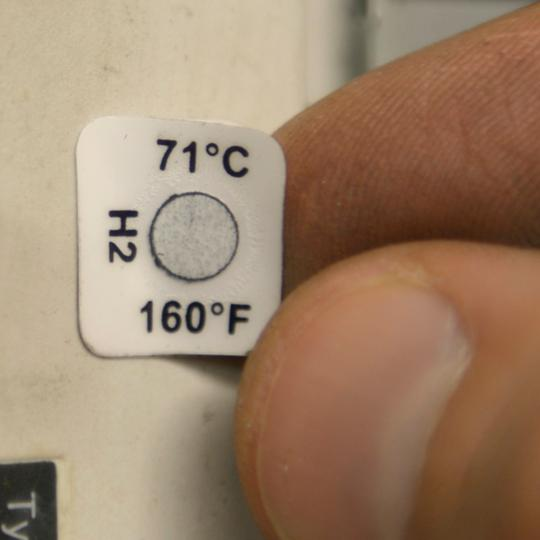 026285 Tempil Tempilabel Series 21 Temperature Indicating Label: 210 deg. F - (Roll of 1000)