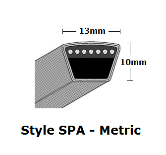 SPA1600 Metric Wrapped V- Belt - SPA - 1618mm O. C.