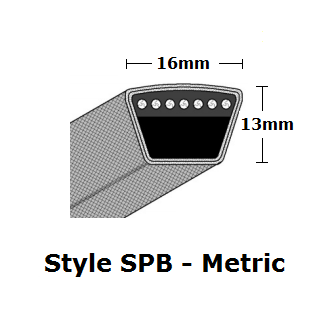 SPB6300 Metric Wrapped V- Belt - SPB - 6322mm O. C.