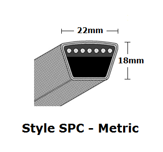 SPC3550 Metric Wrapped V- Belt - SPC - 3580mm O. C.
