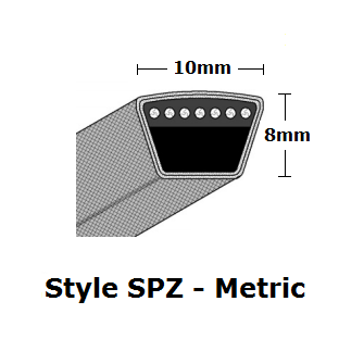 SPZ1080 Metric Wrapped V- Belt - SPZ - 1093mm O. C.