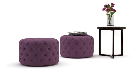 Marken Small Round Ottoman Versatile Furniture