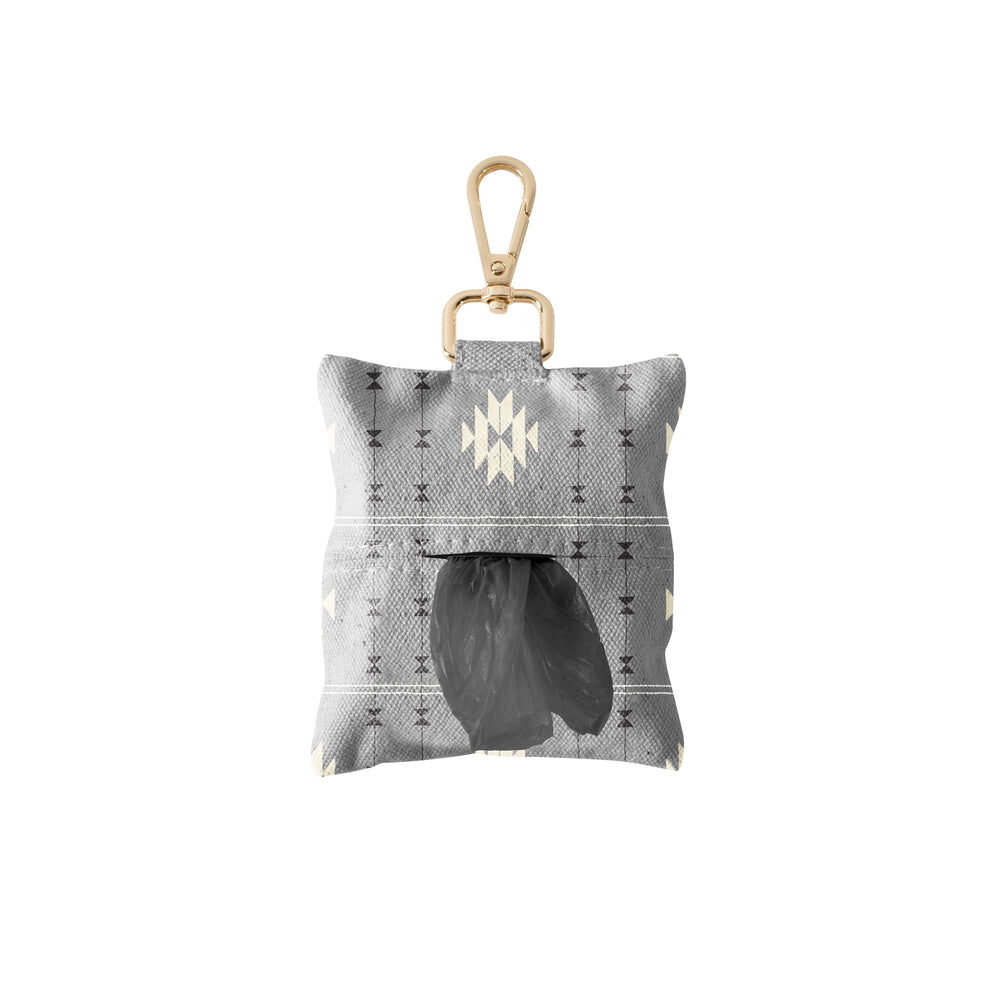 PETSHOP TRIBAL GRAY CANVAS WASTE BAG DISPENSER