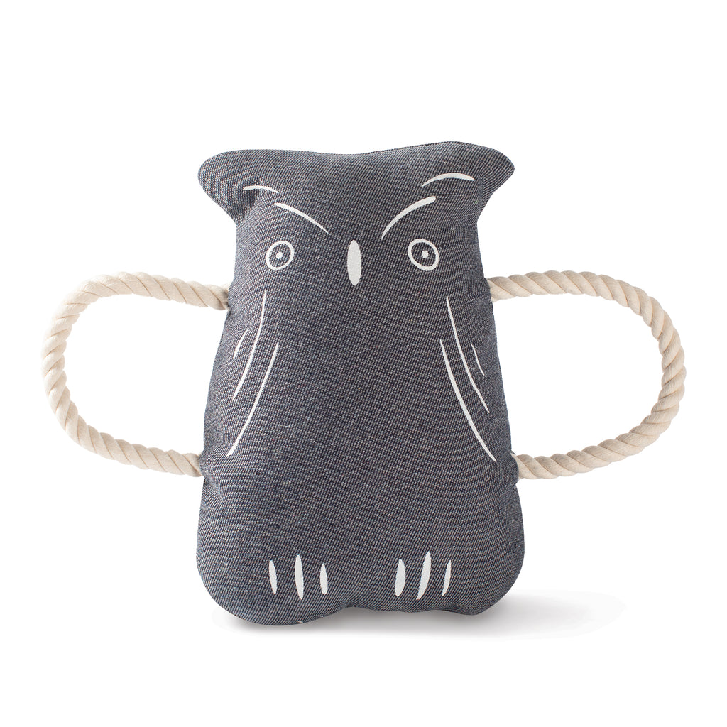 PETSHOP OWL CANVAS DOG TOY