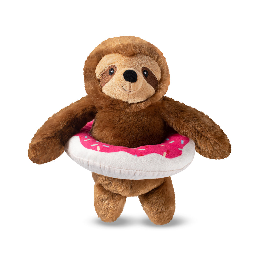 PETSHOP DONUT WORRY IT'S POOL TIME SLOTH DOG TOY