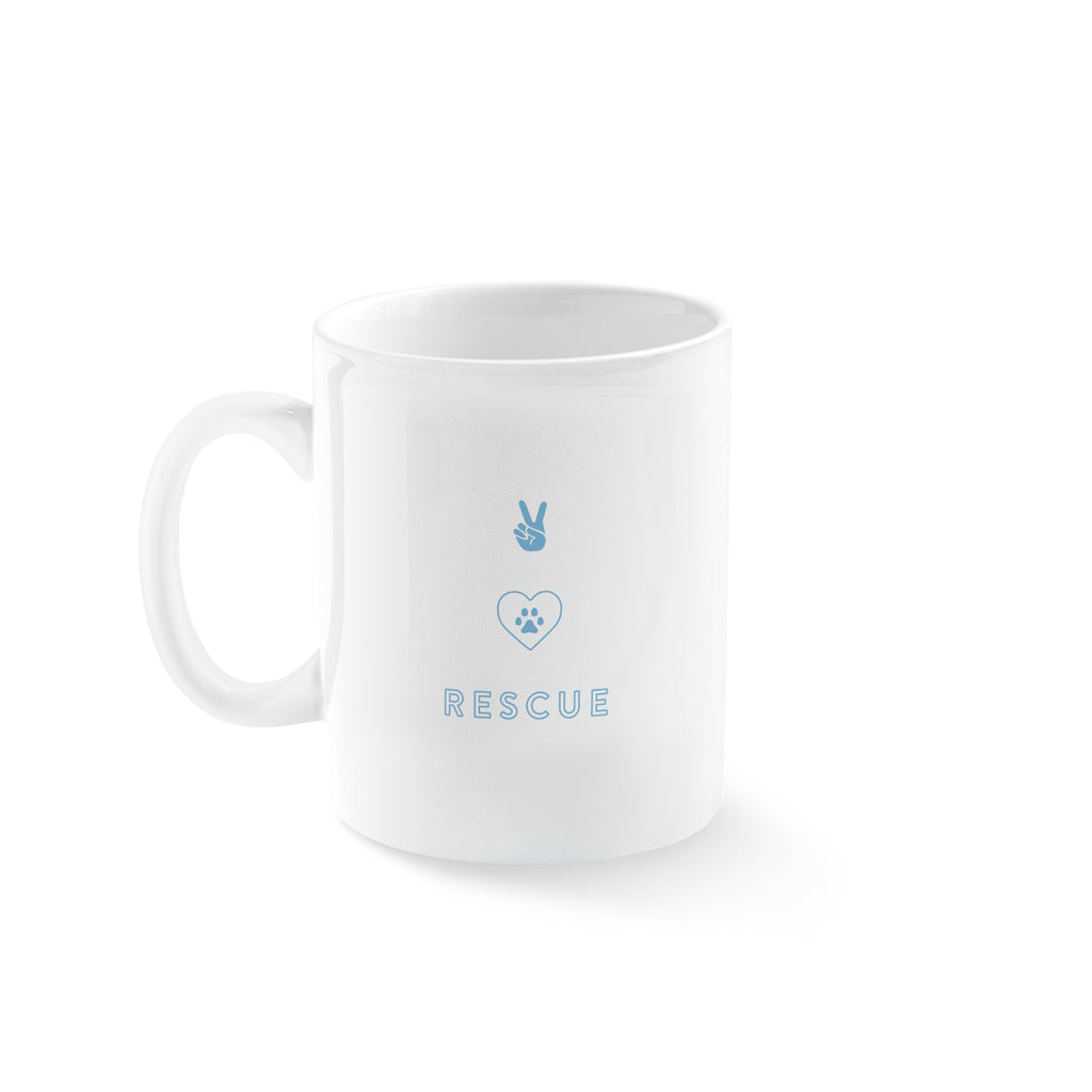PETSHOP PEACE LOVE RESCUED MUG