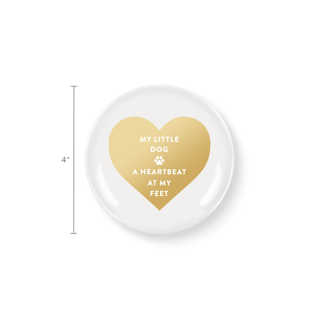 PETSHOP HEARTBEAT AT MY FEET ROUND TRAY