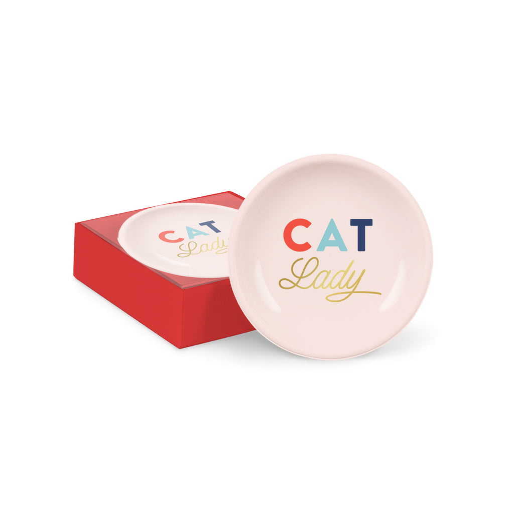 PETSHOP CAT LADY ROUND TRAY