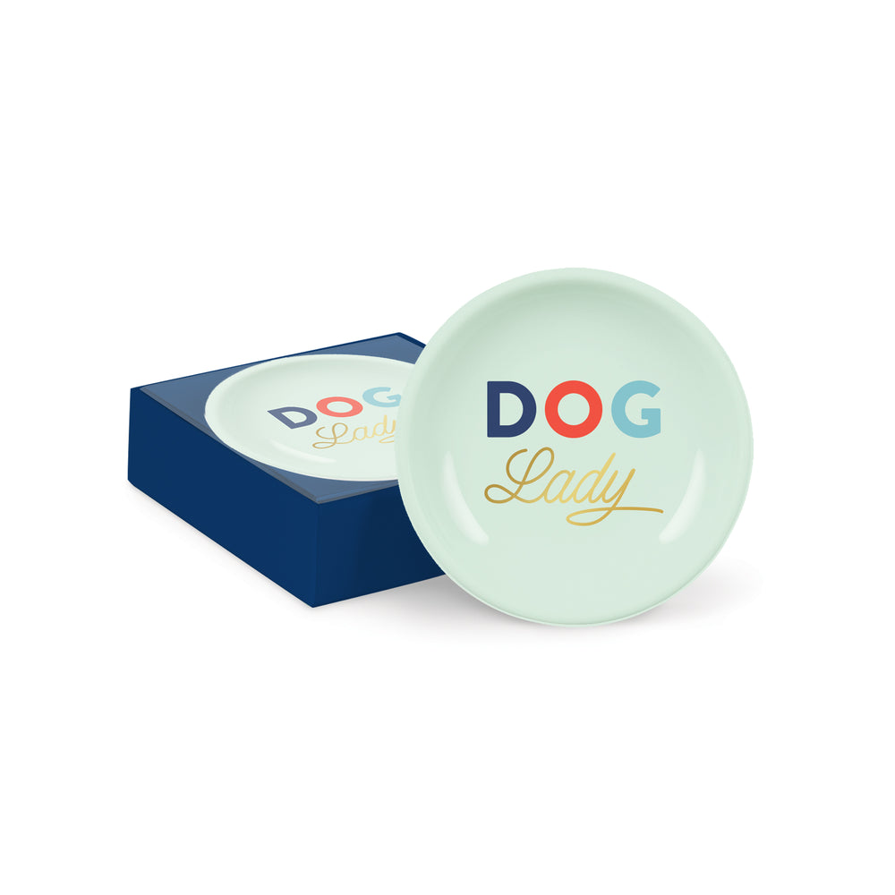 PETSHOP DOG LADY ROUND TRAY