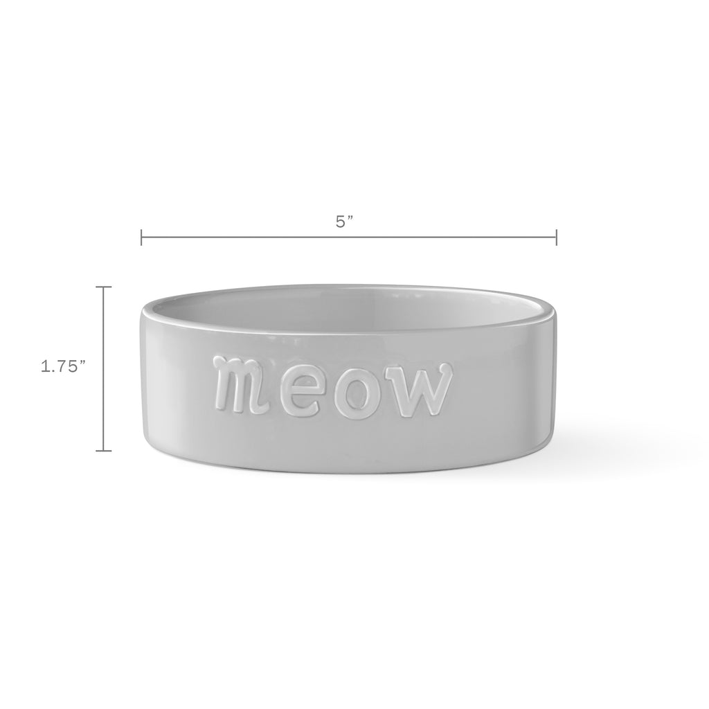 PETSHOP SCULPT MEOW GRAY PET BOWL