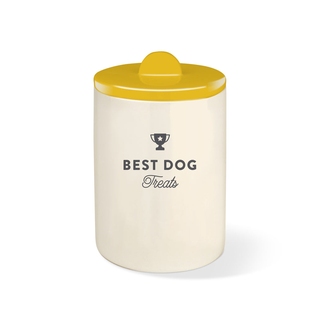 PETSHOP BEST DOG OCHRE CERAMIC TREAT JAR