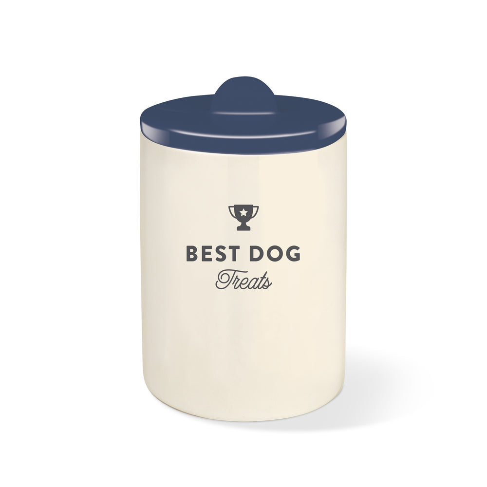 PETSHOP BEST DOG NAVY CERAMIC TREAT JAR