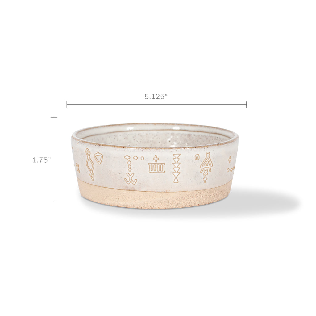 Pet Shop Tribal Marks Stoneware Pet Bowl