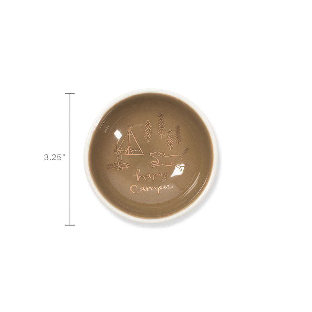 PETSHOP HAPPY CAMPER ROUND TRINKET TRAY