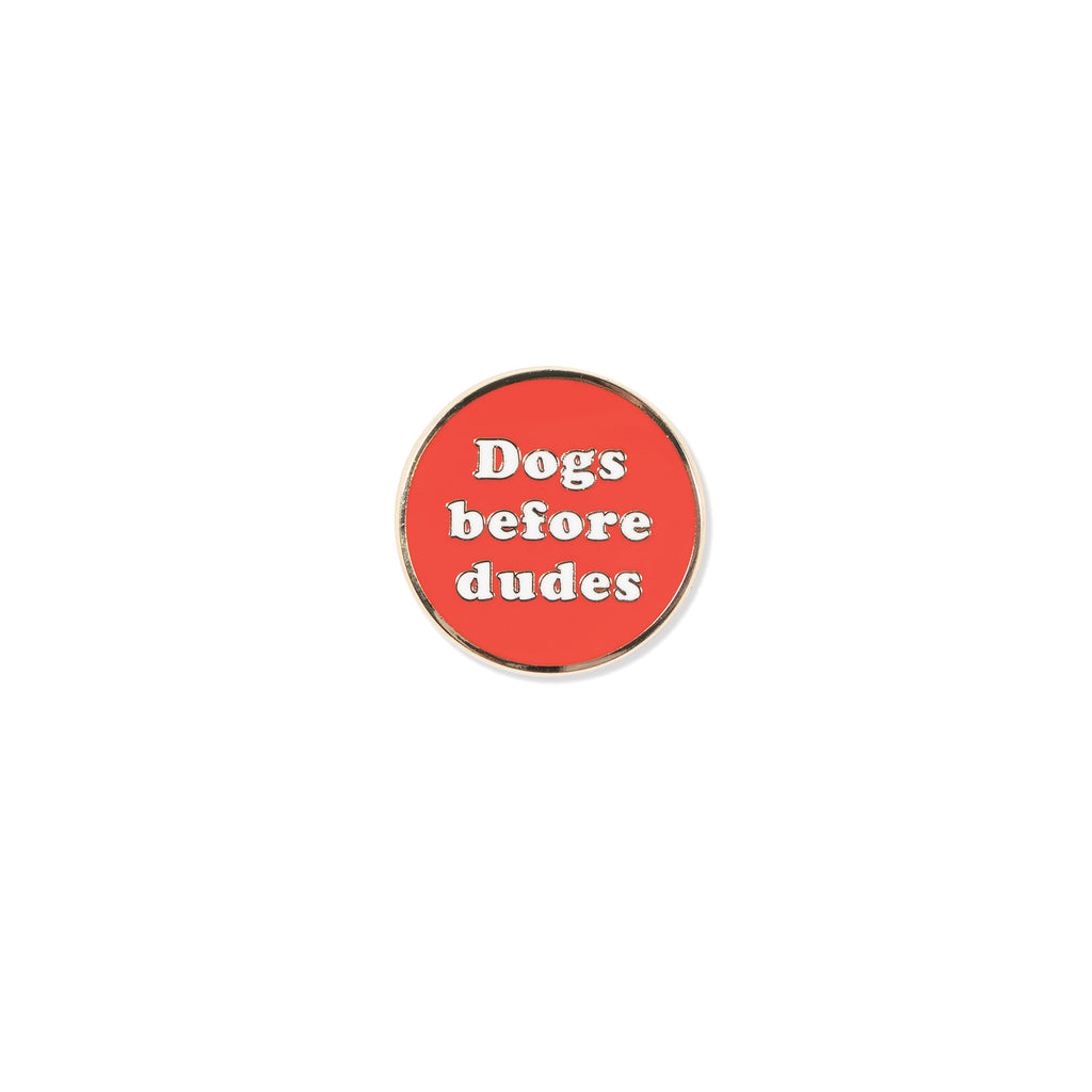 PetShop Dogs Before Dudes Enamel Pin
