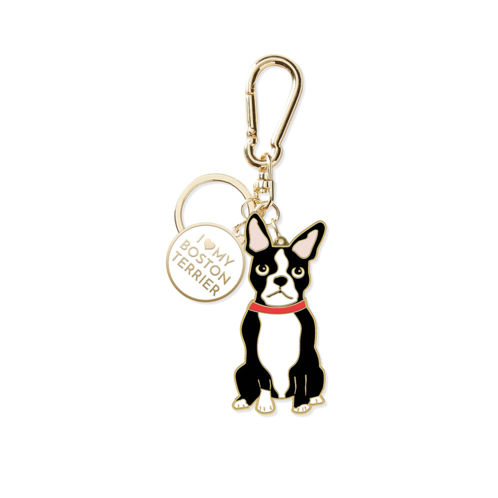 PETSHOP BOSTON TERRIER KEYCHAIN
