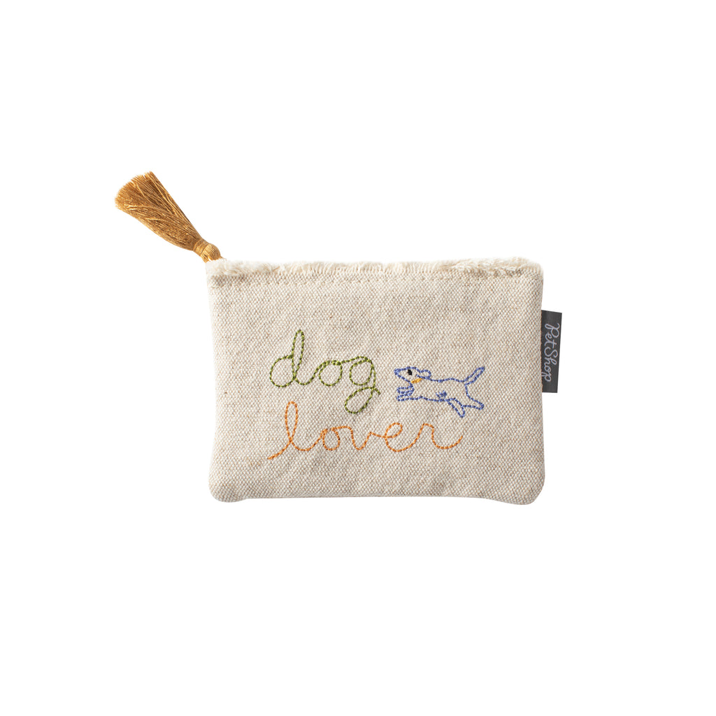 PetShop Dog Lover Canvas Coin Pouch