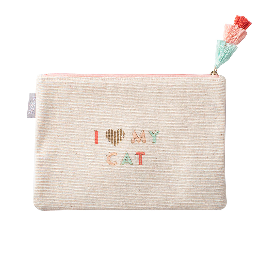 PETSHOP I LOVE MY CAT CANVAS POUCH
