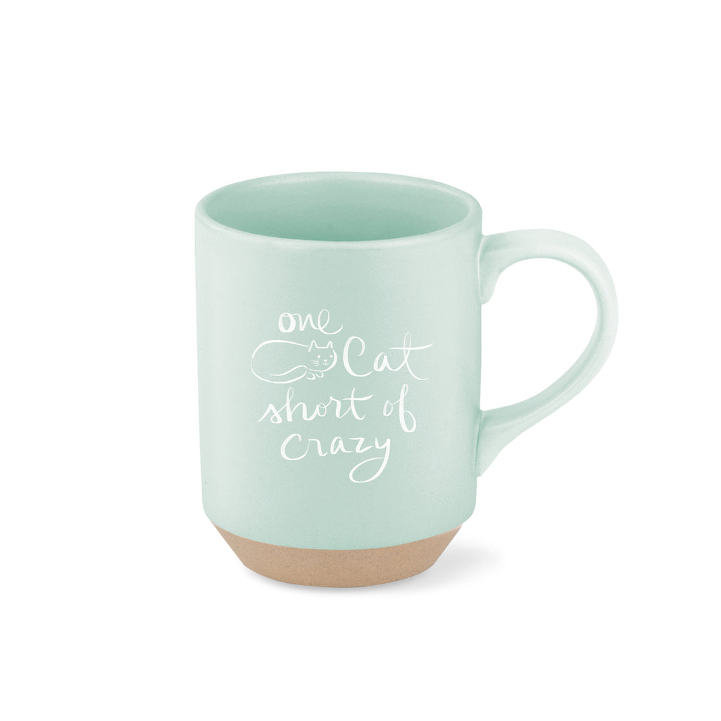 PETSHOP ONE CAT SHORT STONEWARE MUG