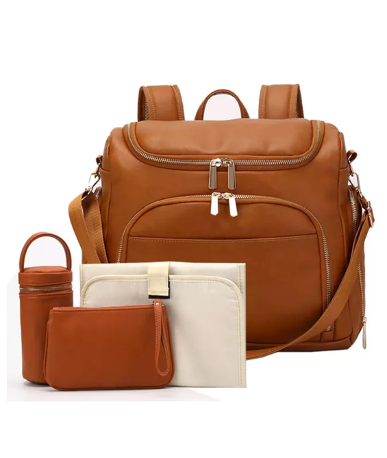 La Mare™ Debra Leather Diaper Bag